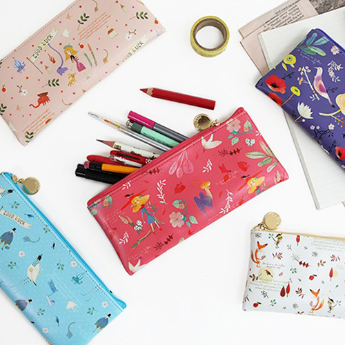 Пеналы 'Willow Story Pattern Flat Pencil Case'