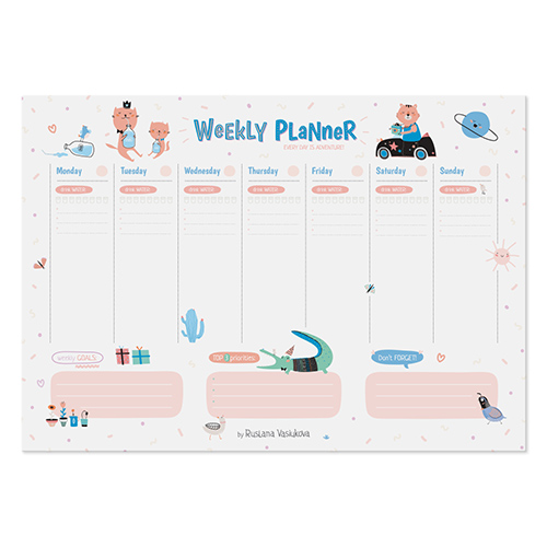 Планинг а4 'Weekly Planner'