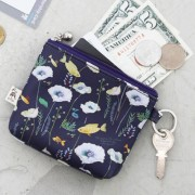 Маленький кошелек 'Willow Story pattern Coin Wallet' - Navy