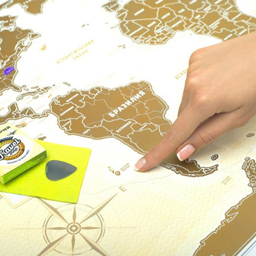 Скретч карта Мира 'Travel Map Gold New'
