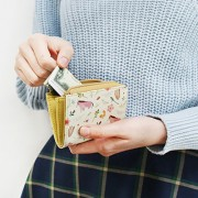 Кошелек 'Willow Pattern Zipper Card Wallet' - Yellow