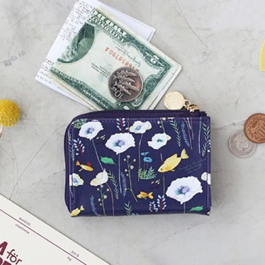Кошелек 'Willow Pattern Zipper Card Wallet' - Purple