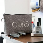 Косметичка 'The Basic Felt Pouch ver.4' - Gray