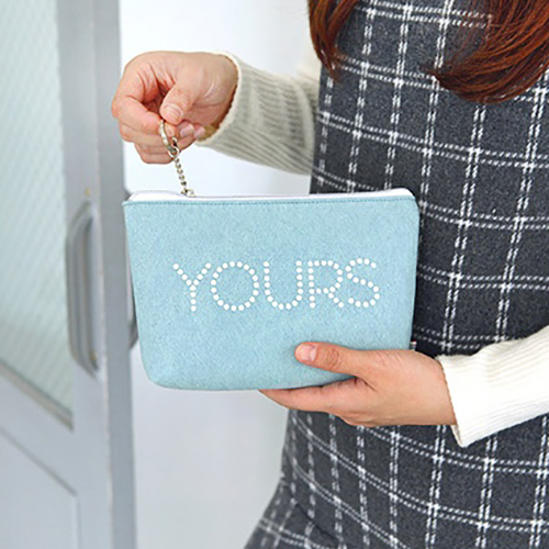 Косметичка 'The Basic Felt Pouch ver.4' - Mint