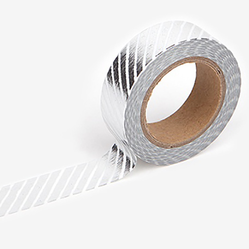 Декоративный скотч 'Masking Tape'  - Pencil Oblique: Silver