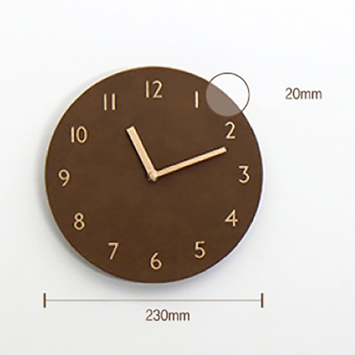 Часы 'Sandwich Clock Retro Leather' - Orange