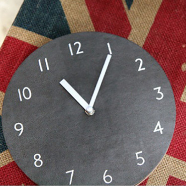 Часы 'Sandwich Clock Retro Leather' - Gray