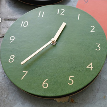 Часы 'Sandwich Clock Retro Leather' - Khaki