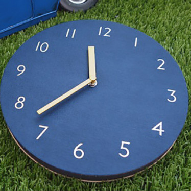 Часы 'Sandwich Clock Retro Leather' - Navy
