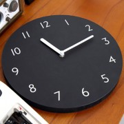 Часы 'Sandwich Clock Number Type' - Black