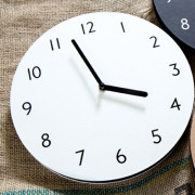 Часы 'Sandwich Clock Number Type' - Ivory