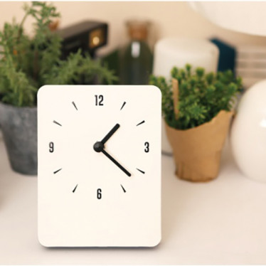 Часы 'Sandwich Clock Mini' - Ivory