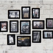 Набор фоторамок 'Paper Photo Bag  12P Set' - Black