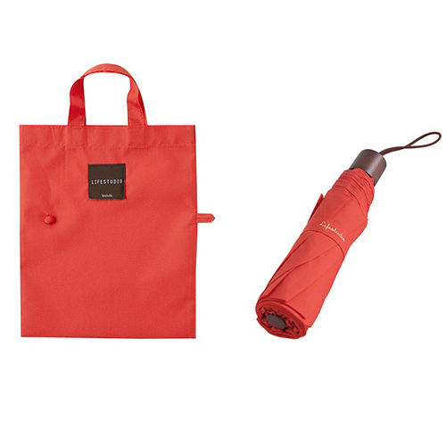 Зонт складной 'Lifestudio Solid Folding Umbrella' - Red