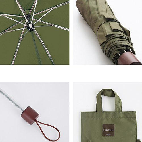 Зонт складной 'Lifestudio Solid Folding Umbrella' - Khaki