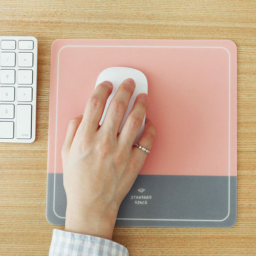 Коврик для мышки 'Standard Space Mouse Pad' - Pink Gray