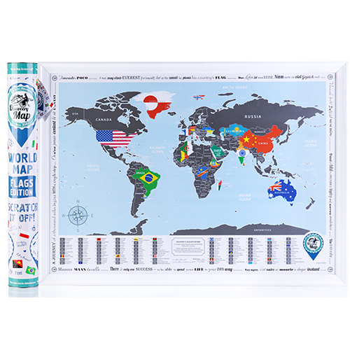 Скретч Карта Discovery Map World Flags