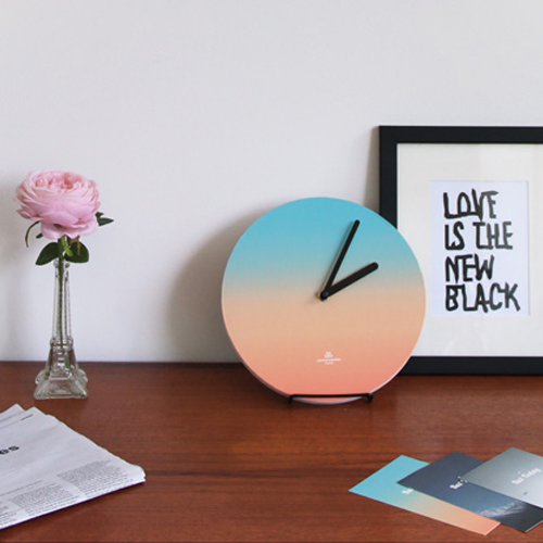 Часы 'Object Clock_Color' - Blue-Orange