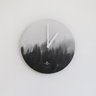 Часы 'Object Clock_Mono' - Misty Forest