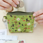Маленький кошелек 'Willow Story pattern Coin Wallet' - Olive