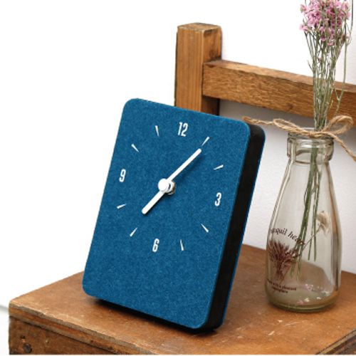 Часы 'Sandwich Clock Mini Felt' - Bluegreen