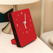Часы 'Sandwich Clock Mini Felt' - Red