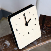 Часы 'Sandwich Clock Mini Felt' - Cream