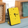 Часы 'Sandwich Clock Mini Felt' - Yellowgreen