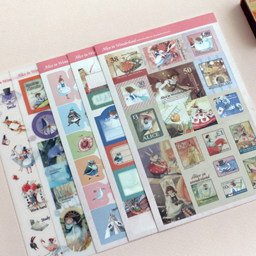 Стикеры 'Alice In Wonderland Sticker 5 Sets'