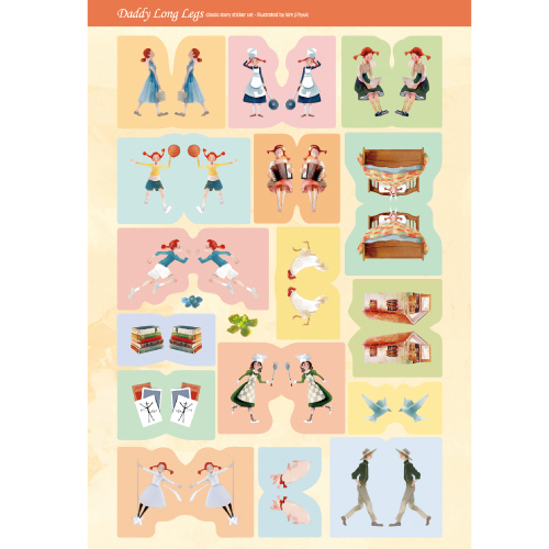 Наклейки 'Daddy Long Legs Sticker 5 Sets'