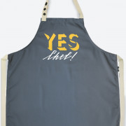 Фартук 'Yes, Chef!' - Grey