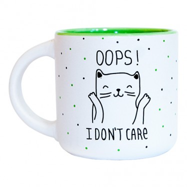 Чашка 'Oops I don't care'
