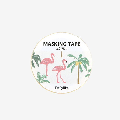Декоративный скотч 'Masking Tape 25mm' - 04 Flamingo