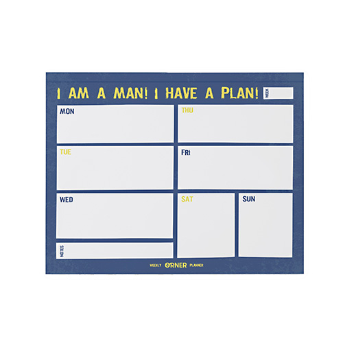 Планинг 'Weekly Planner. Men's Edition'