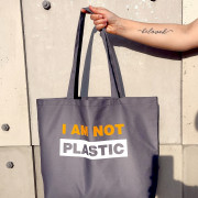 Эко сумка Market Maxi 'I am Not Plastik'