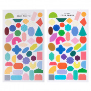 Наклейки 'Color Palette Shape Sticker Colorway'