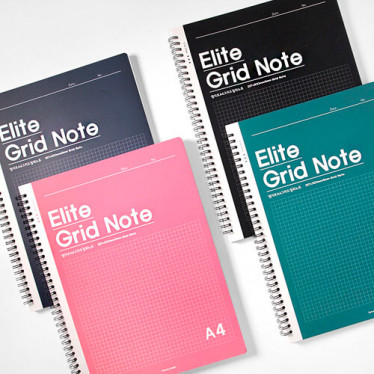 Блокнот 'Elite A4 Grid Cutout Note'